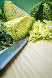 Sliced savoy cabbage Stock Photography