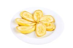 Sliced served banana Royalty Free Stock Photography
