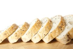 Sliced sesame bred Royalty Free Stock Image
