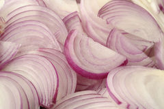 Sliced shallot onion background Stock Photography