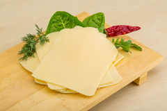 Sliced sheese Stock Images