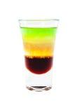 Sliced shot cocktail isolated on white background Stock Image