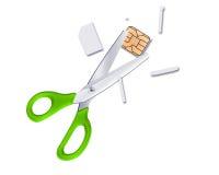 Sliced sim card Royalty Free Stock Image