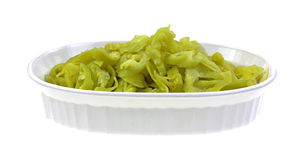 Sliced Small Peppers Bowl Royalty Free Stock Image