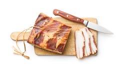 Sliced smoked bacon Stock Photo