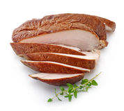Sliced smoked chicken breast Royalty Free Stock Image