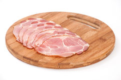 Sliced smoked ham Stock Image