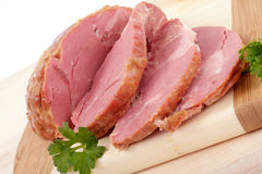 Sliced smoked meat Royalty Free Stock Photography