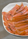 Sliced Smoked Salmon Royalty Free Stock Photography