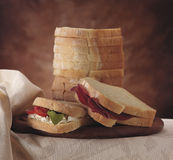Sliced soft bread Royalty Free Stock Photo