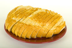 Sliced Sourdough Bread On Plate Stock Photos
