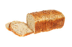 Sliced soya and linseed loaf Royalty Free Stock Photos