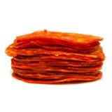Sliced Spanish chorizo sausage Royalty Free Stock Photos