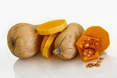 Sliced Squash Royalty Free Stock Photos