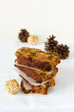 Sliced and stacked Christmas Cake Royalty Free Stock Photography