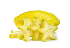 Sliced star apple isolated on the white background Royalty Free Stock Photography