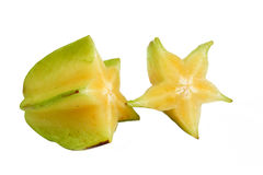 Sliced star fruit Royalty Free Stock Images