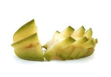 Sliced Star fruit. On white background Stock Photos