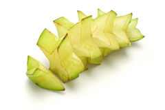 Sliced starfruit Stock Photos