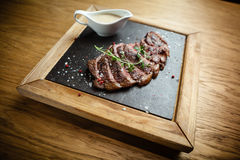 Sliced steak Picanya Royalty Free Stock Photos