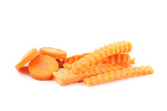Sliced and sticks  carrot Stock Image