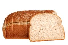 Sliced stone milled bread Royalty Free Stock Images