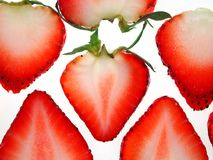 Sliced strawberries Royalty Free Stock Photos