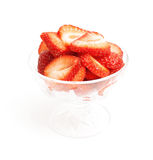 Sliced strawberries Royalty Free Stock Image