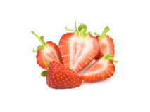 Sliced strawberries Royalty Free Stock Photo