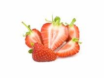 Sliced strawberries Royalty Free Stock Photo