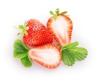 Sliced strawberries Royalty Free Stock Photos