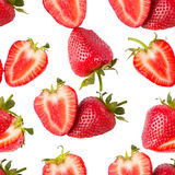 Sliced strawberries seamless wallpaper Stock Photo