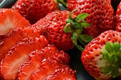 Sliced strawberries Stock Image