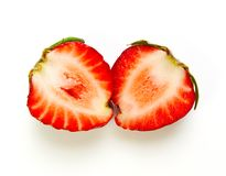 Sliced strawberry Stock Image