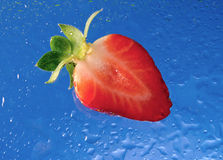 Sliced strawberry Royalty Free Stock Photography