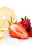 Sliced strawberry Royalty Free Stock Image