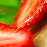 Sliced Strawberry Stock Photography