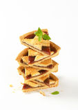 Sliced strawberry cake Stock Photography