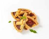 Sliced strawberry cake Royalty Free Stock Photography