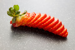 Sliced strawberry Royalty Free Stock Photos