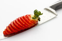 Sliced strawberry Royalty Free Stock Photo