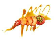 Sliced strawberry dessert Royalty Free Stock Photography