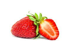 Sliced strawberry isolated Stock Photos