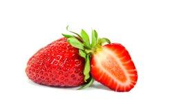 Sliced strawberry isolated stock photos