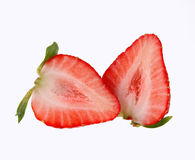 Sliced strawberry isolated on white Stock Photo