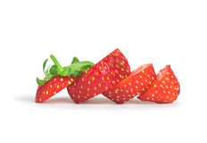 Sliced strawberry Royalty Free Stock Image