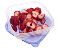 Sliced Strawberrys Leftover Royalty Free Stock Photography