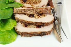 Sliced Stuffed Pork Roast Stock Image