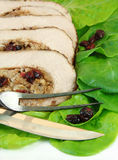 Sliced Stuffed Pork Roast Royalty Free Stock Photos