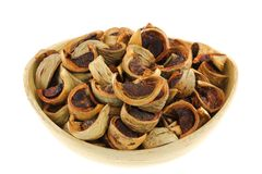 Sliced sun-dried Betel Nuts (Areca nut) Royalty Free Stock Photo